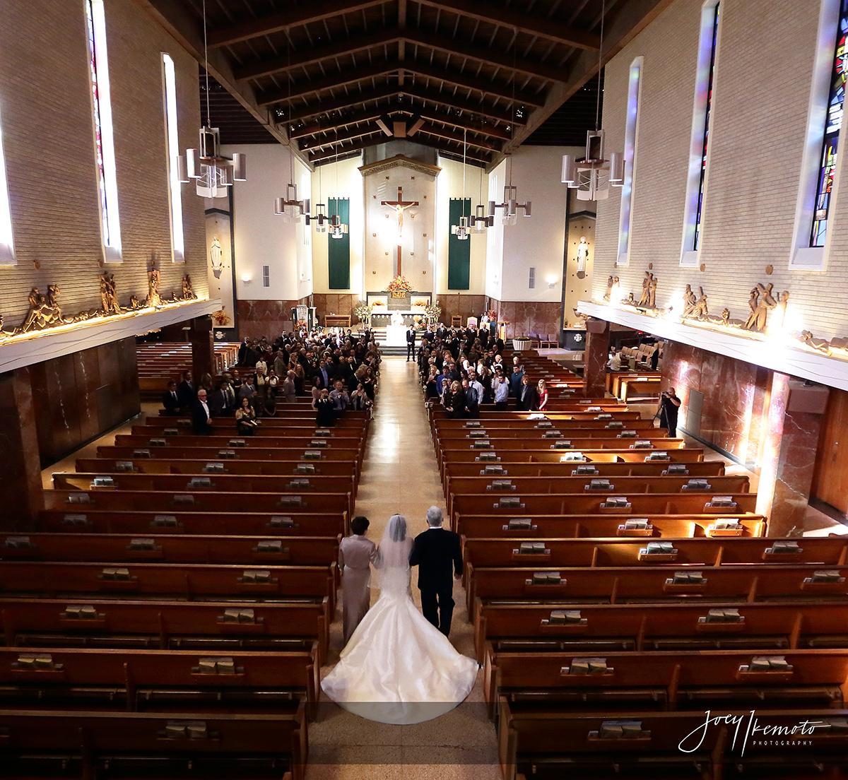 St James Church Redondo Beach and Manhattan Beach Marriott Wedding Los Angeles Albert and