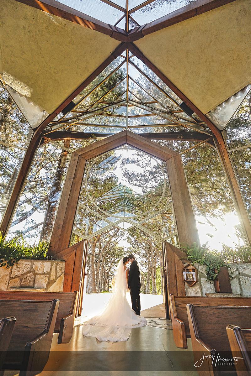 Wayfarers Chapel and Palos Verdes House Wedding Daniel and Kashmira