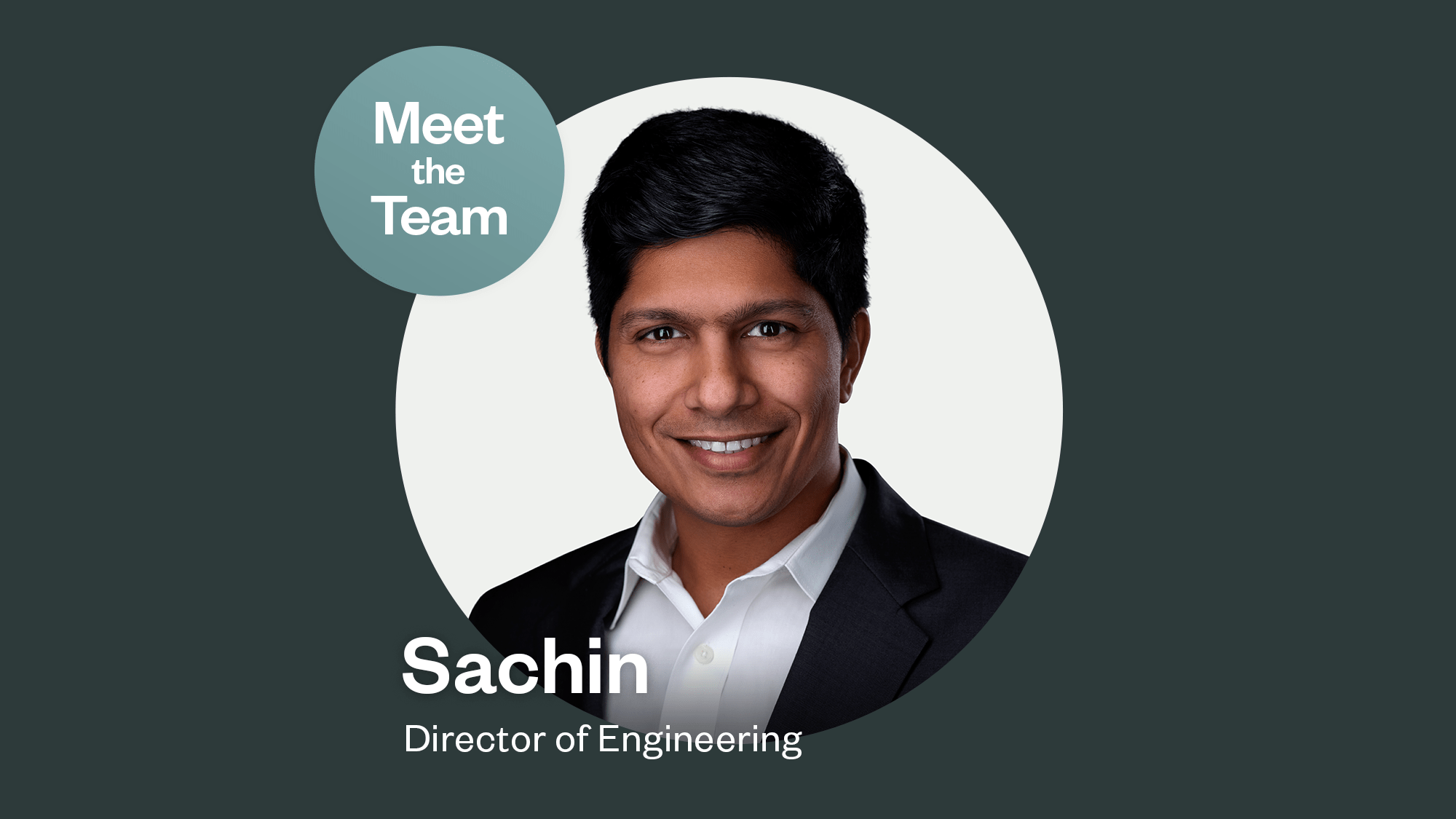 Photo of director of engineering Sachin Kulkarni, lead of securing users' personal data.