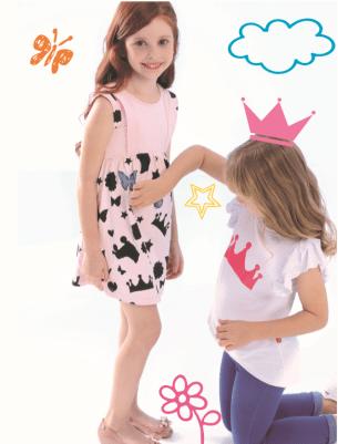 Vestido menina estampa de giz