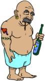 Leszokás a cigarettáról blogban | rajz lerobbant, cigarettázó pasasról.