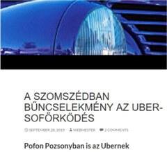 Uber és sofőrszolgálat