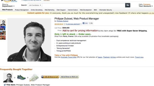 Fake Amazon Page Is Best Online Resume Ever