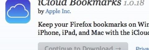 iCloud Bookmarks - Firefox