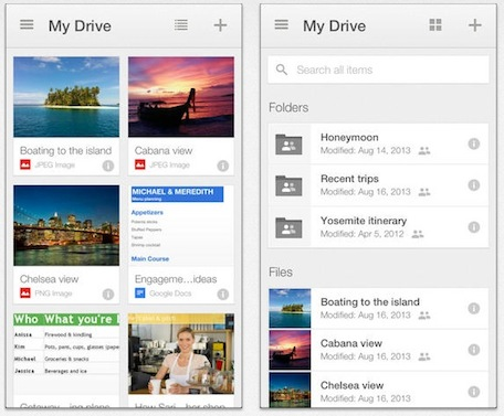 Revamped Google Drive App