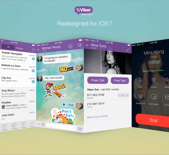 Viber Revamps iOS App - iOS7 Ready