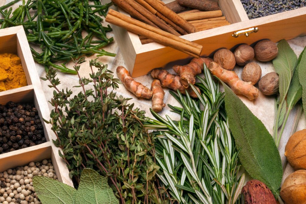 Ginger with Other Essential Herbs