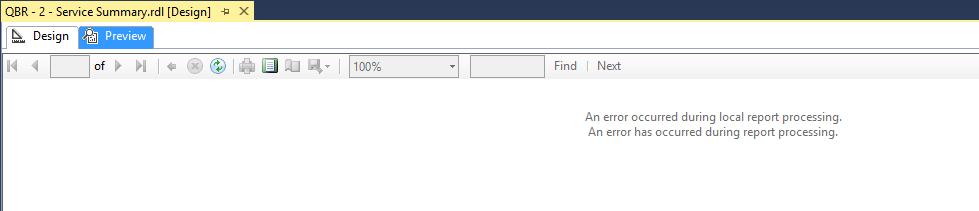 Windows 10 Upgrade – Part 5: SSRS Report Preview Error in SSDT-BI