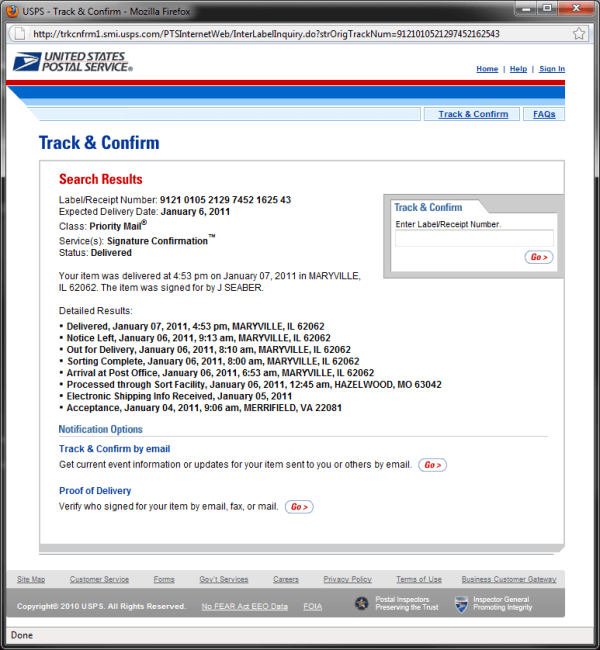 Usps Tracking Number Example