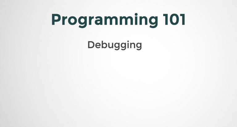Introduction to Debugging