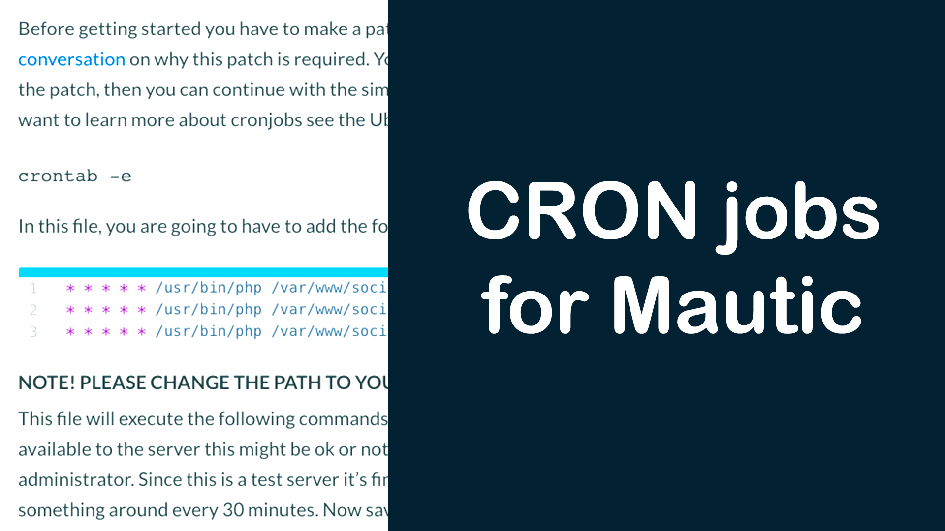 How to setup CRON jobs for Mautic | JSecademy