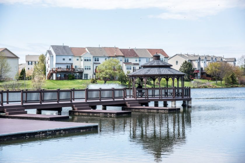 charming ashburn village lake gazebo