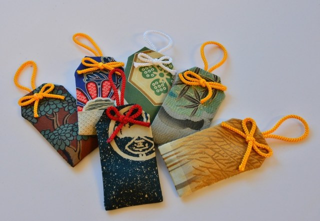 Special omamori, not available always because it is made to order one by one form more than 200 years old fabric keped in Ito family's warehouse.