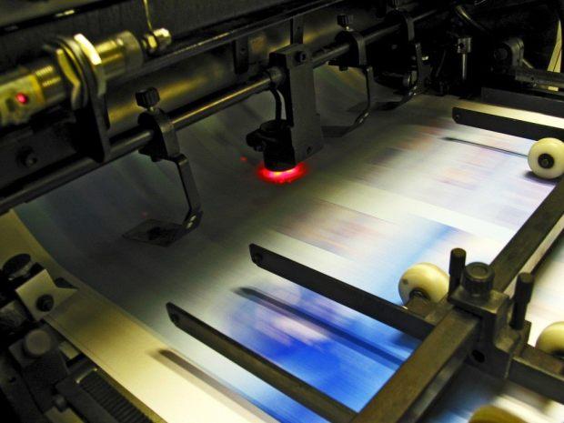Offset printing graphic arts