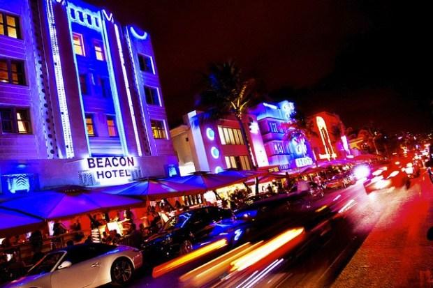 Miami Neon lights and Art Deco
