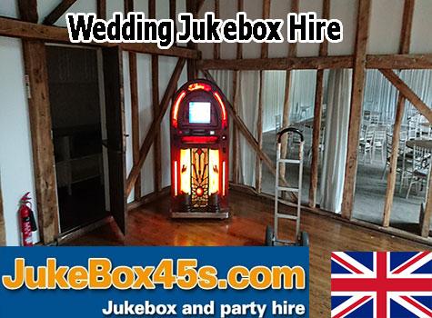 Wedding venue barn reception jukebox hire