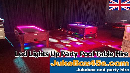 Corporate Event LED Illuminated Lights Up Pool Table Hire
