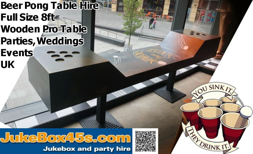 Wooden Beer Pong Table Hire parties weddings events