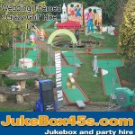 Wedding themed crazy golf course hire