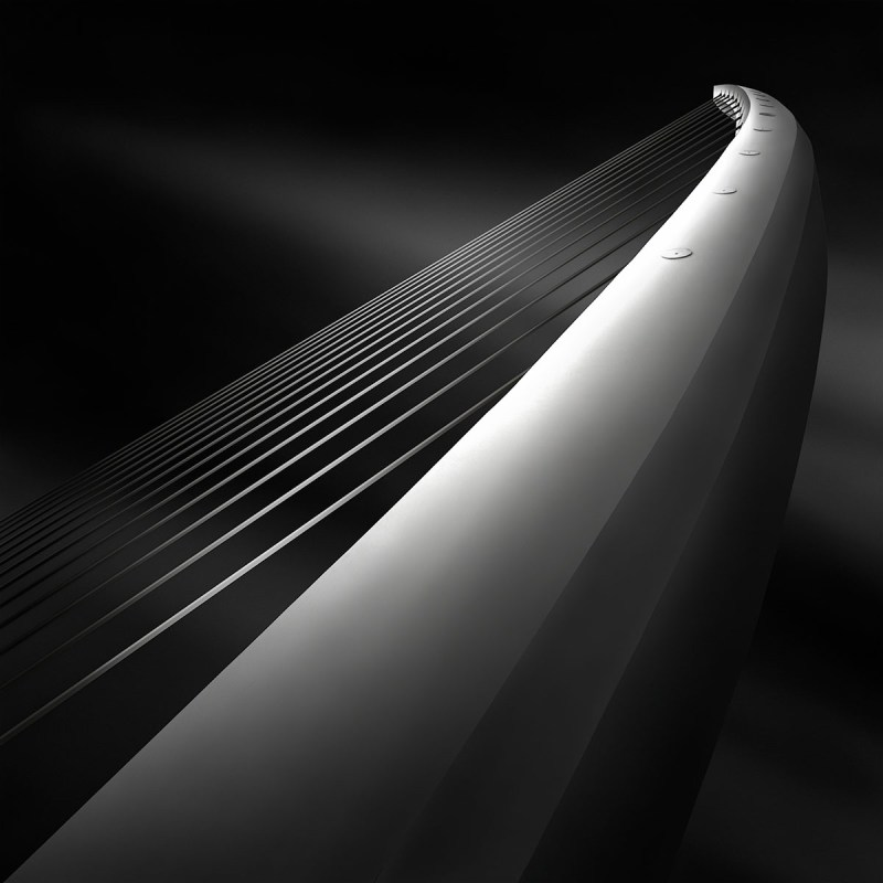 Like A Harp's Strings III - Rising - Calatrava Bridge Athens © Julia Anna Gospodarou