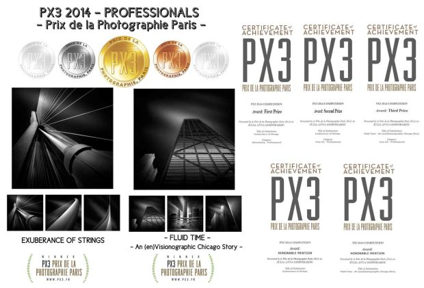 Gold, Silver and Bronze at PX3 2014 - Prix de le Photographie Paris