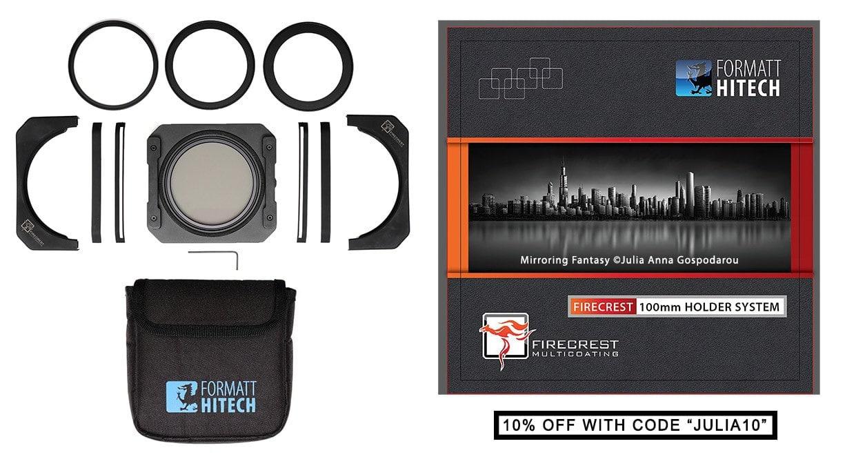 Formatt-hitech Firecrest 100mm Holder Kit - Anti light-leak with integrated polarizer