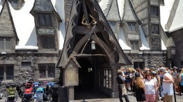 L'entrée de Three Broomsticks