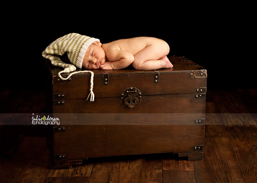 newborn antique chest