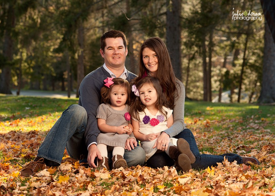 family picture fall leaves