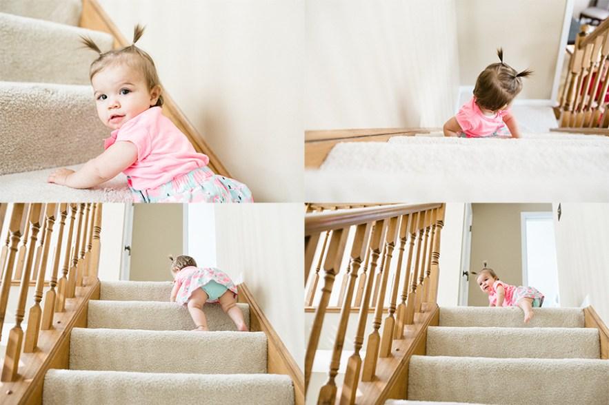 baby climb stairs