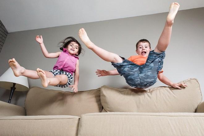 jump on sofa