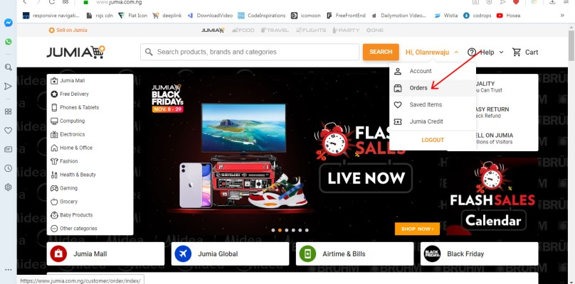 HOW TO TRACK YOUR ORDER ON JUMIA NIGERIA 1