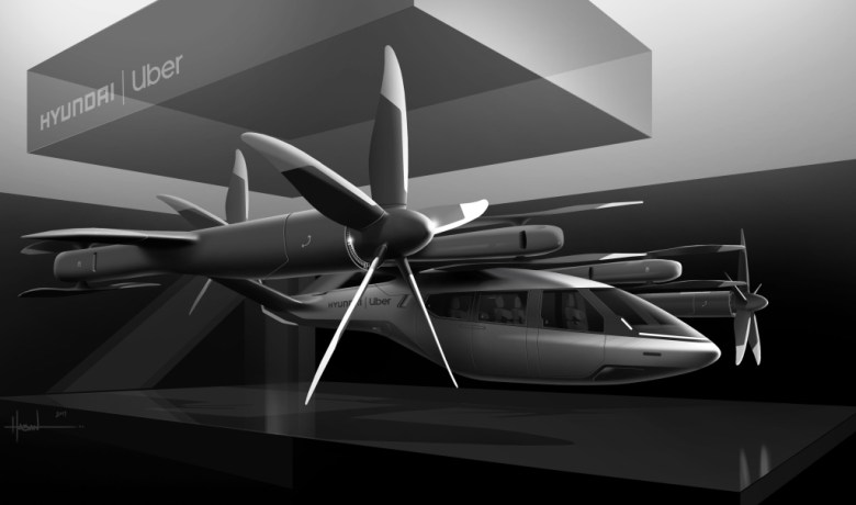 The Hyundai/Uber Flying Taxi at CES 2020
