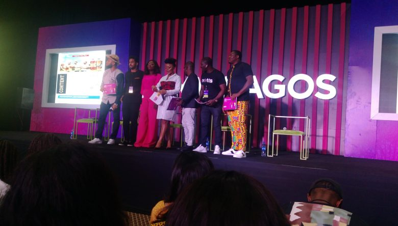 The Digital Jollof panel posing for pictures at the end of the conference.