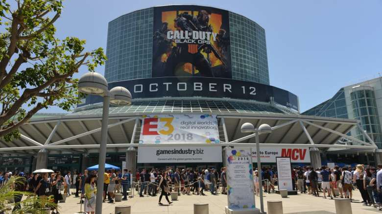 Outside the Los Angeles Convention Center during E3 2018