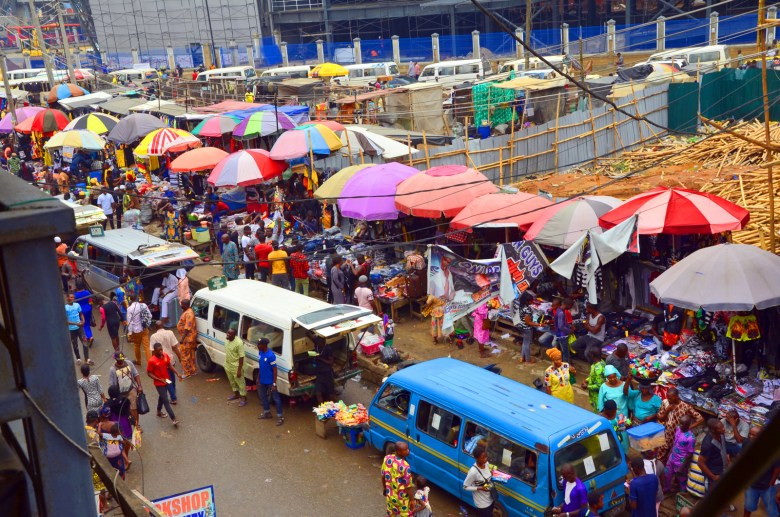 A business market in Lagos