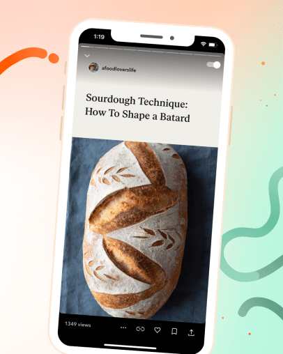 Jumprope screenshot of sourdough tartine