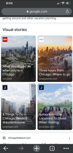 chicago Stories search results on Google