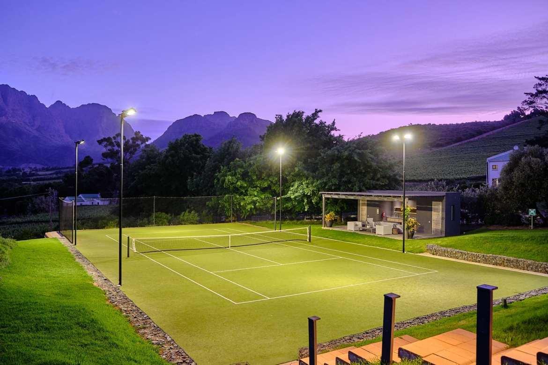 Photography of Mont Rochelle Tennis Court in Stellenbosch