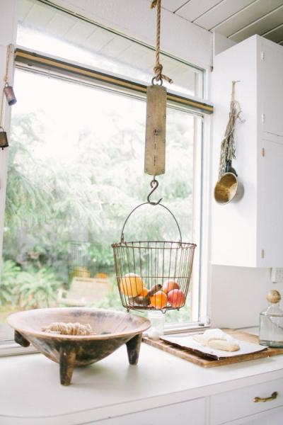 hanging kitchen basket Hanging Fruit Baskets | The Jungalow