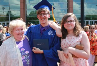 Graduation with my family
