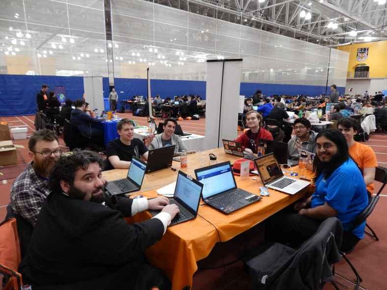 Fedora and Mozilla hack session at BrickHack 2016, RIT