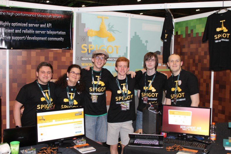 SpigotMC team at annual Minecraft convention, MINECON, in 2015