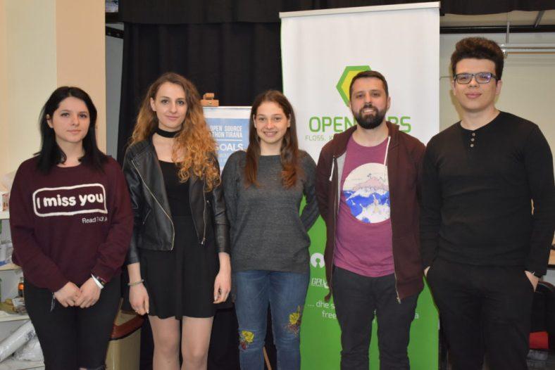 Open Labs board members. Pictured left to right: Jona Azizaj, Anisa Kuci, Kristi Progri, Redon Skikuli, Elio Qoshi