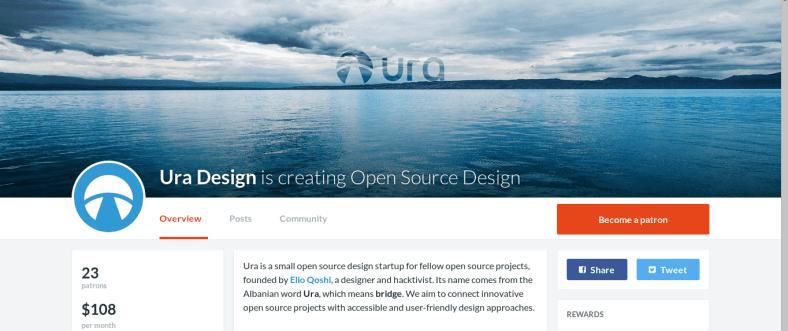 Ura Design Patreon page