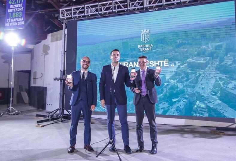 The municipality of Tirana celebrates the launch of their open data portal, opendata.tirana.al