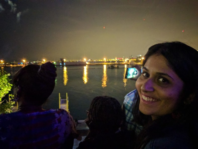 4th of July fireworks on the Navy Pier with Bee