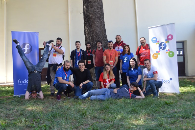 Fedora Project meet-up in Tirana, Albania for OSCAL 2017 – Justin W. Flory is the one at the bottom