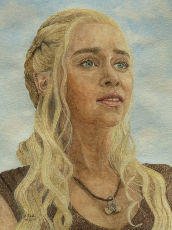 89_Daenerys Targaryen gespielt von Emilia Clarke in der Serie Game of Thrones