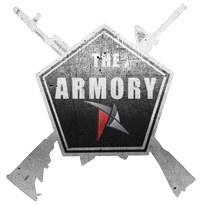 The Armory pentagonal logo with crossed rifles - reader comments